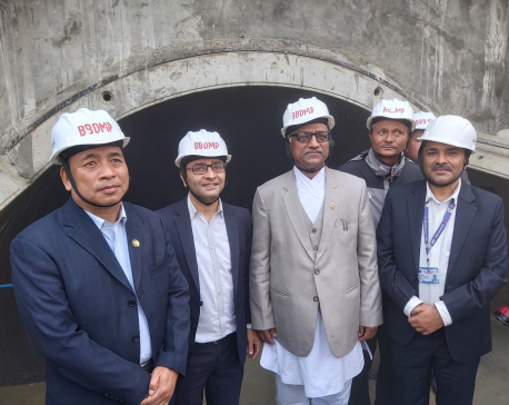 Vice Prez Pun inspects Bheri-Babai Diversion Multipurpose Project