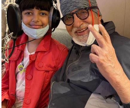 Amitabh Bachchan makes music with Aaradhya