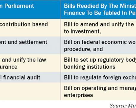 9 financial bills ready for parliamentary deliberation