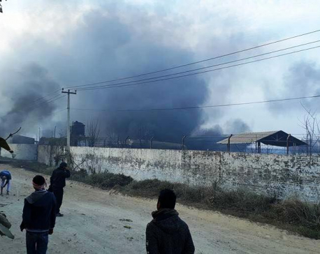 Two killed as fire engulfs gas plant in Birgunj (with photos)