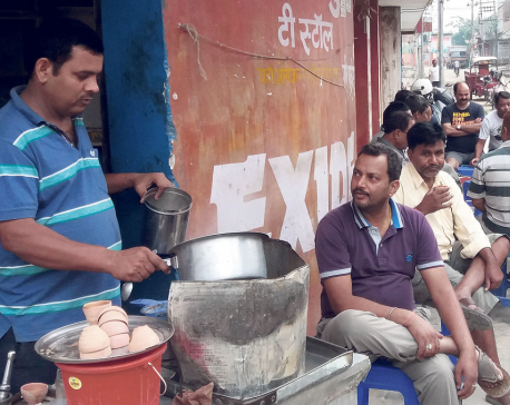 Birgunj mornings at roadside tea stalls