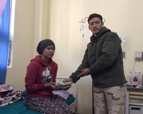 Blood cancer victim receives financial support from migrant workers in Afghanistan