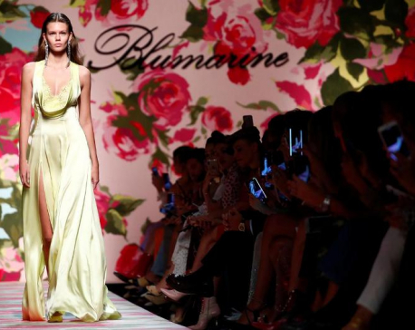 Blumarine says elegance comes in kindness at Milan show