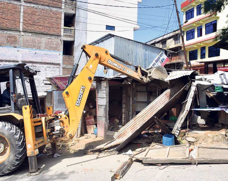 Demolition of illegal structures along BP Highway begins