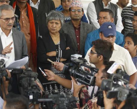 Naya Shakti Party Coordinator Bhattarai submits memo to PM Deuba
