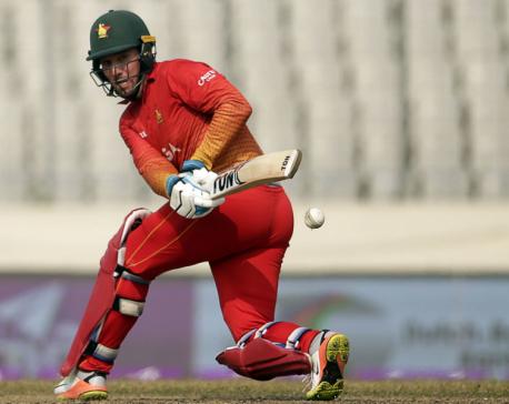 Zimbabwe rips Nepali bowlers, puts 380 runs on board