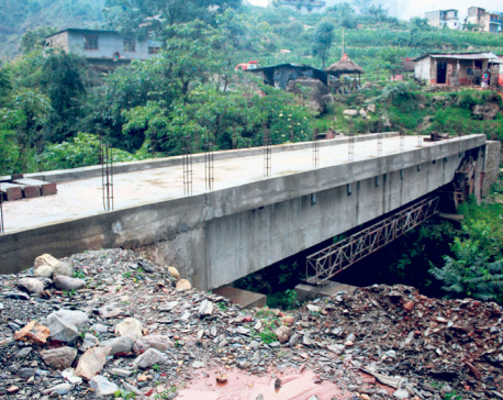 Delay in bridge construction affects Baglung locals