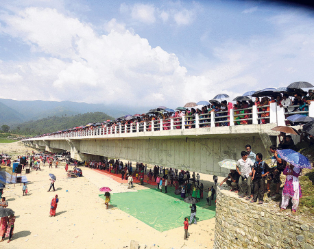 Bridge constructed in Sindhuli well before deadline