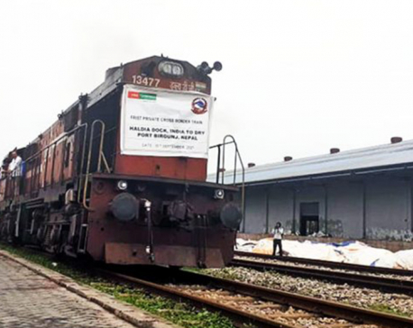 First private sector cargo train from India arrives in Birgunj
