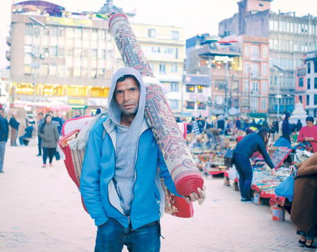 Carpet seller in town