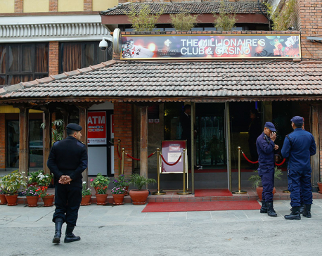 Police presence at casino gate scares foreigners