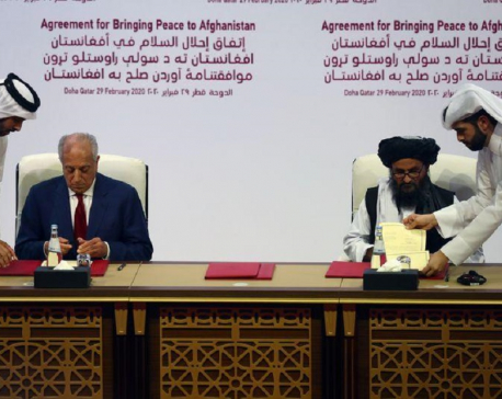 U.S.-Taliban sign historic troop withdrawal deal in Doha