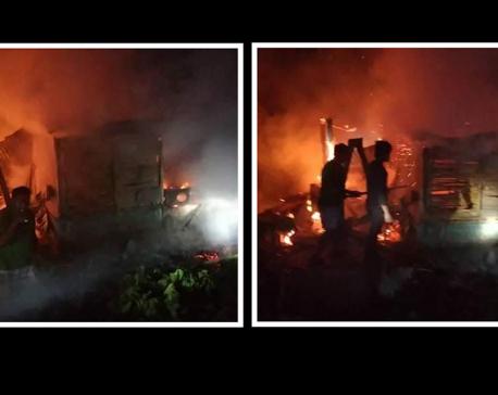 Fire in Bhutanese refugee camp kills one