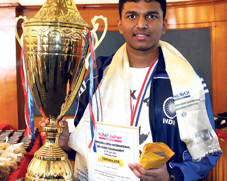 Bharathakothi wins int'l chess tournament
