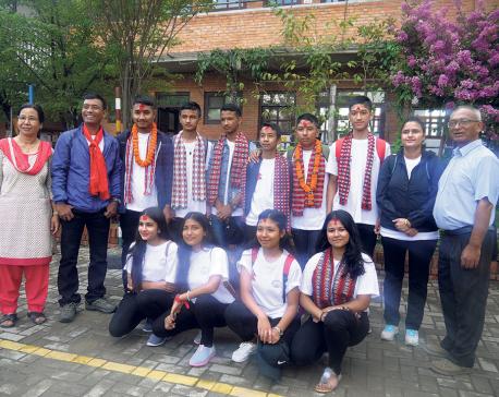 Nepali students set for China