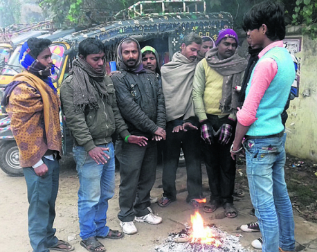 Cold wave hits eastern Tarai
