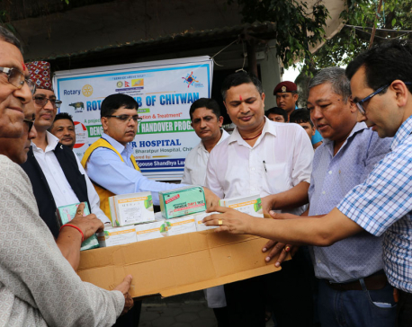 Bharatpur Hospital given dengue test kits in donation