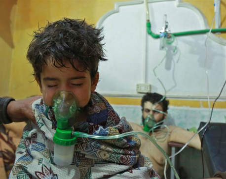 Chlorine gas symptoms reported in eastern Ghouta, Syria