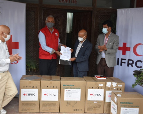 IFRC donates 100 units of oxygen concentrators to Nepal red Cross Society