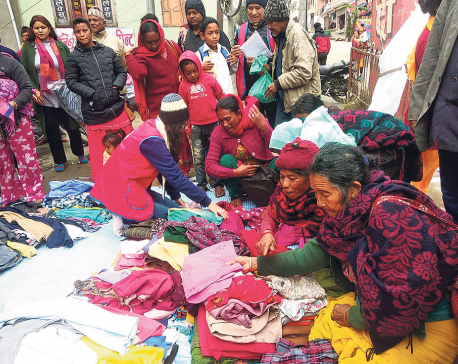 Leo Club distributing free clothes in Gorkha
