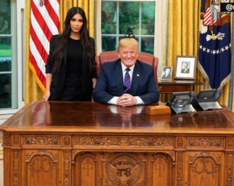 Kim Kardashian West makes another White House visit