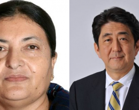 President Bhandari holds meeting with Japanese PM in Tokyo