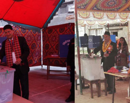 Mayor candidates in KTM vote