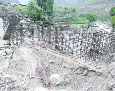 Construction of Sapsu River Bridge comes to a halt