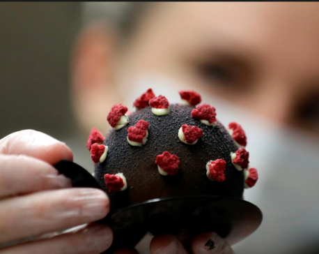 Prague cafe hits sweet spot with coronavirus-shaped dessert