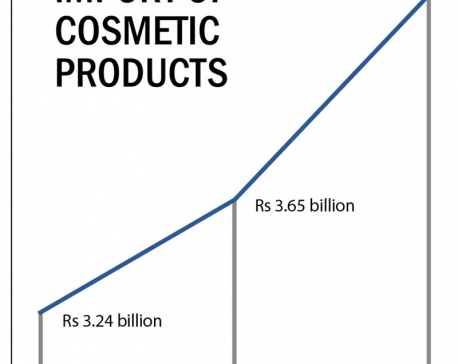 Consumption of cosmetic products rising steadily
