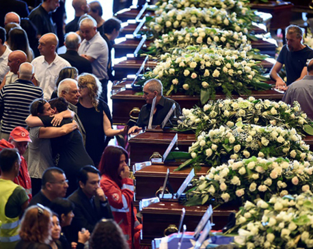 Italy buries victims of Genoa bridge collapse (In Pictures)