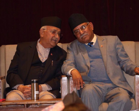 Oli, Dahal to meet again on Tuesday as they differ whether to call Secretariat or Standing Committee meeting to resolve differences
