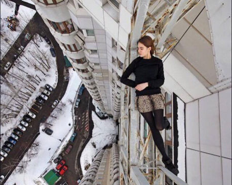 This Russian girl takes extremely dangerous selfies