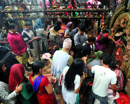 Maha Astami being observed today by worshipping Goddess Durga