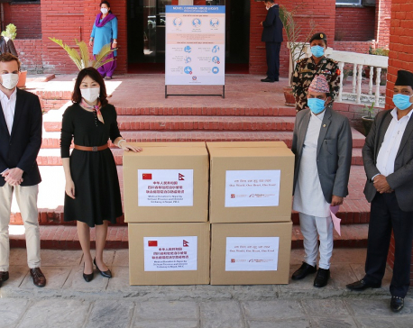 Medical equipment donated by Jack Ma and Alibaba foundations to combat COVID-19 arrive in Kathmandu