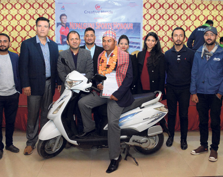 Cricketer Chhetri felicitated