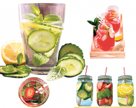 Flavored water for detox