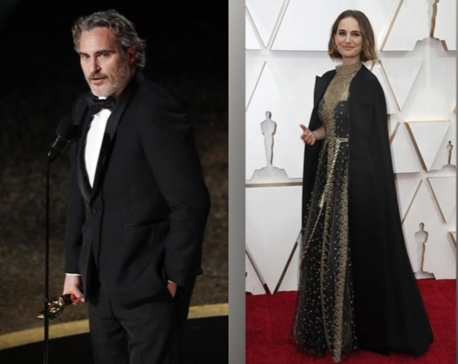 Fashion and politics hand-in-hand at Oscars red carpet