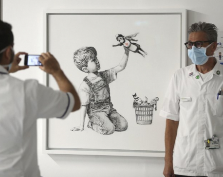 Banksy painting raises $23 million for UK health charities