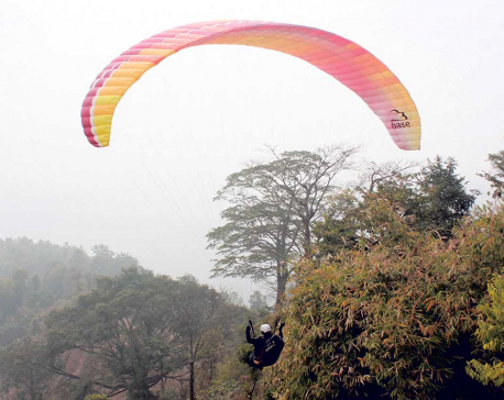 Paragliding from Gorkha Park