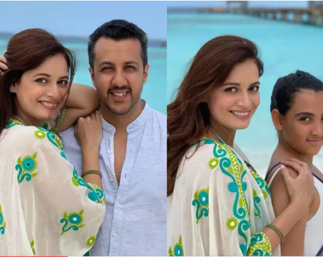 Dia Mirza shares first picture with husband Vaibhav Rekhi and step-daughter Samaira from their Maldives vacay