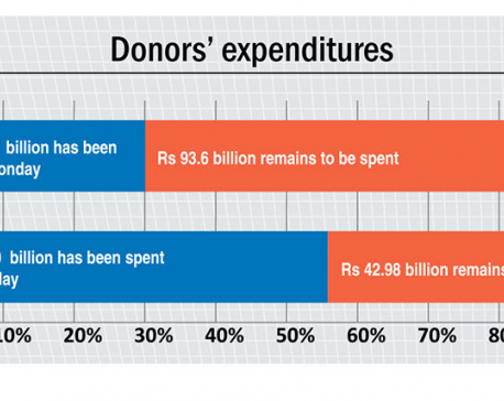 Aid donors also spent more on recurrent programs