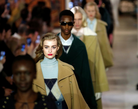 Lanvin's Sialelli revisits tradition in retro-themed Paris show