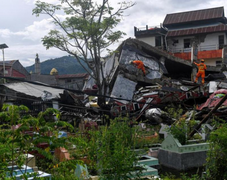 Quake death toll at 56 as Indonesia struggles with string of disasters