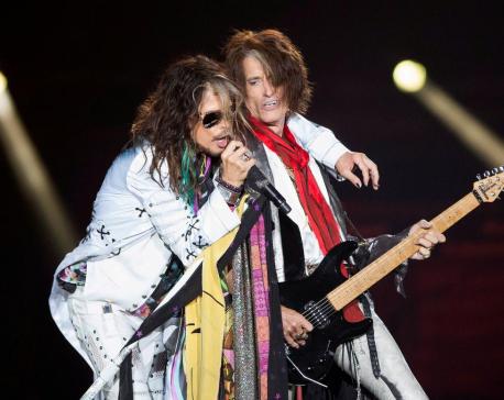 Johnny Depp jams with Aerosmith as band celebrates 50-year career