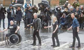 UK's Prince Harry and Jon Bon Jovi recreate Abbey Road Beatles cover