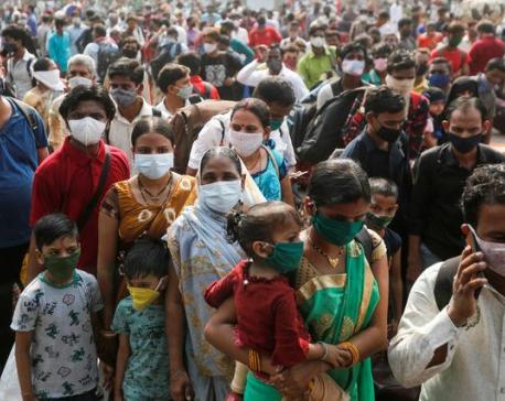 India's new coronavirus infections hit record of 184,372