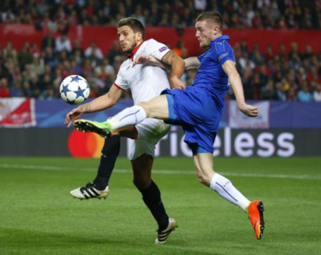 Vardy strike offers hope to embattled Leicester despite defeat by Sevilla