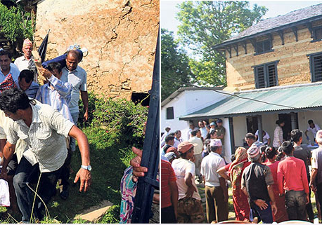 Critically ill Dr Devkota pays nostalgic visit to birthplace
