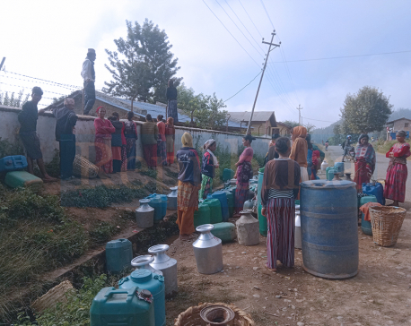 While whole country is busy with Tihar celebrations, Kudu people hit hard by water woes (with photos)